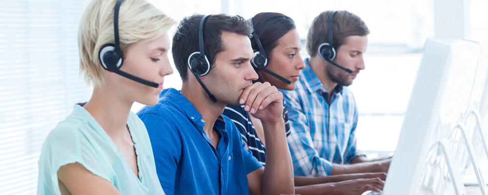 Service & Support team on phones